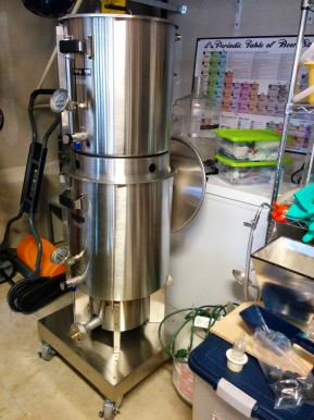Another shot of the shiny new brew system.